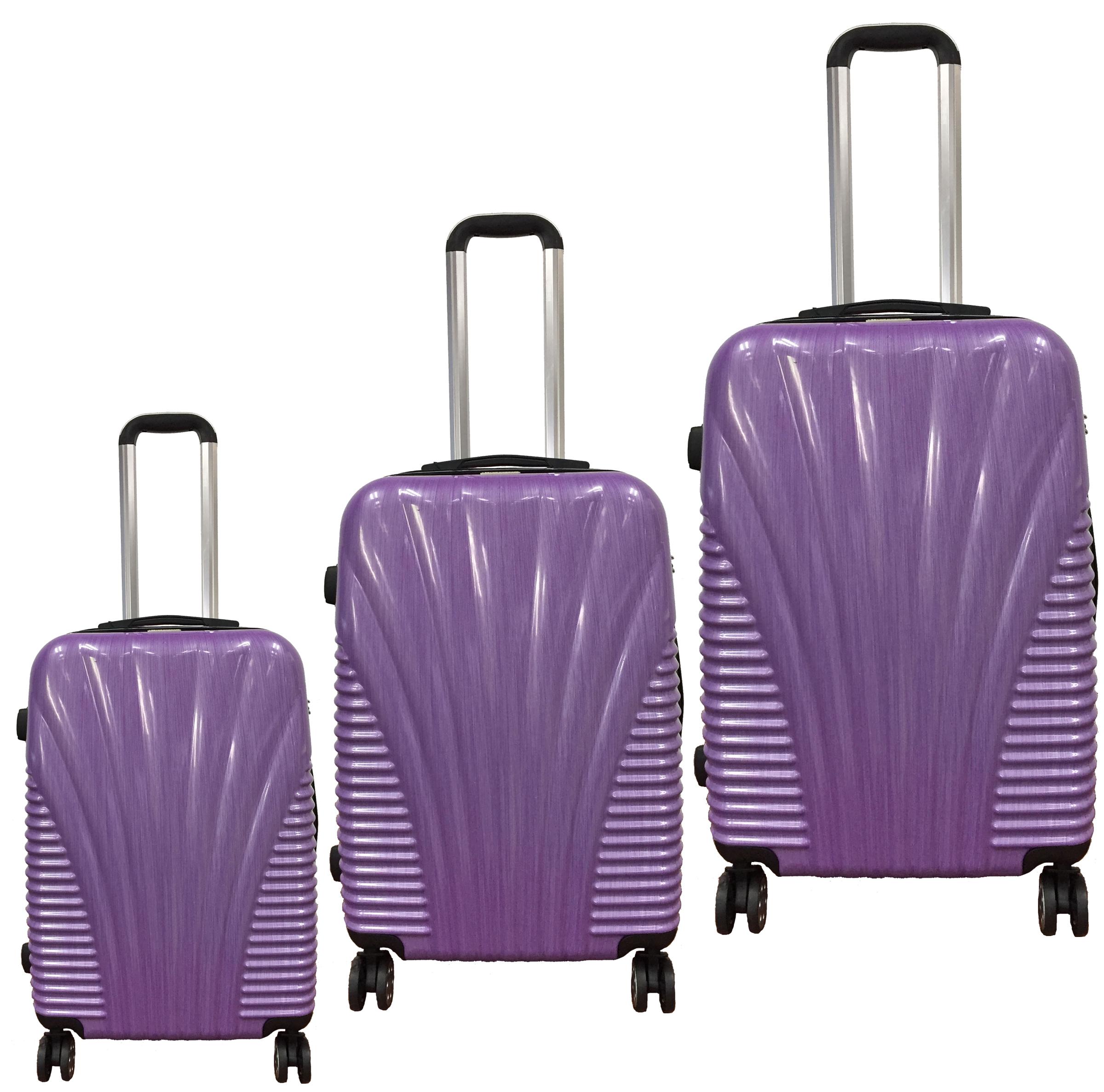 ebdf31552df5 McBRINE Light weight 3 pc Hard Sided luggage set in Green, Purple ...