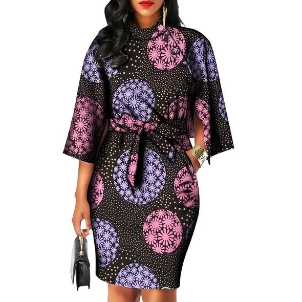 Women Traditional African Print Dress #africanprintdresses