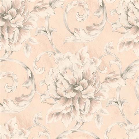 Le20601 Beige And Gold Guillemot Floral Wallpaper Total Wallcovering Floral Wallpaper Wallpaper Wall Wallpaper