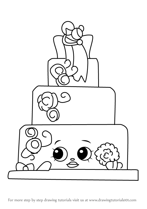 Learn How To Draw Wendy Wedding Cake From Shopkins Shopkins Step By Step Dr Shopkin Coloring Pages Shopkins Drawings Shopkins Coloring Pages Free Printable