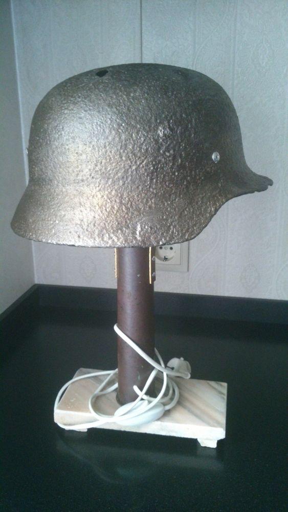 WW2 WWIIGERMAN TRENCH ART TABLE LAMP ORIGINAL