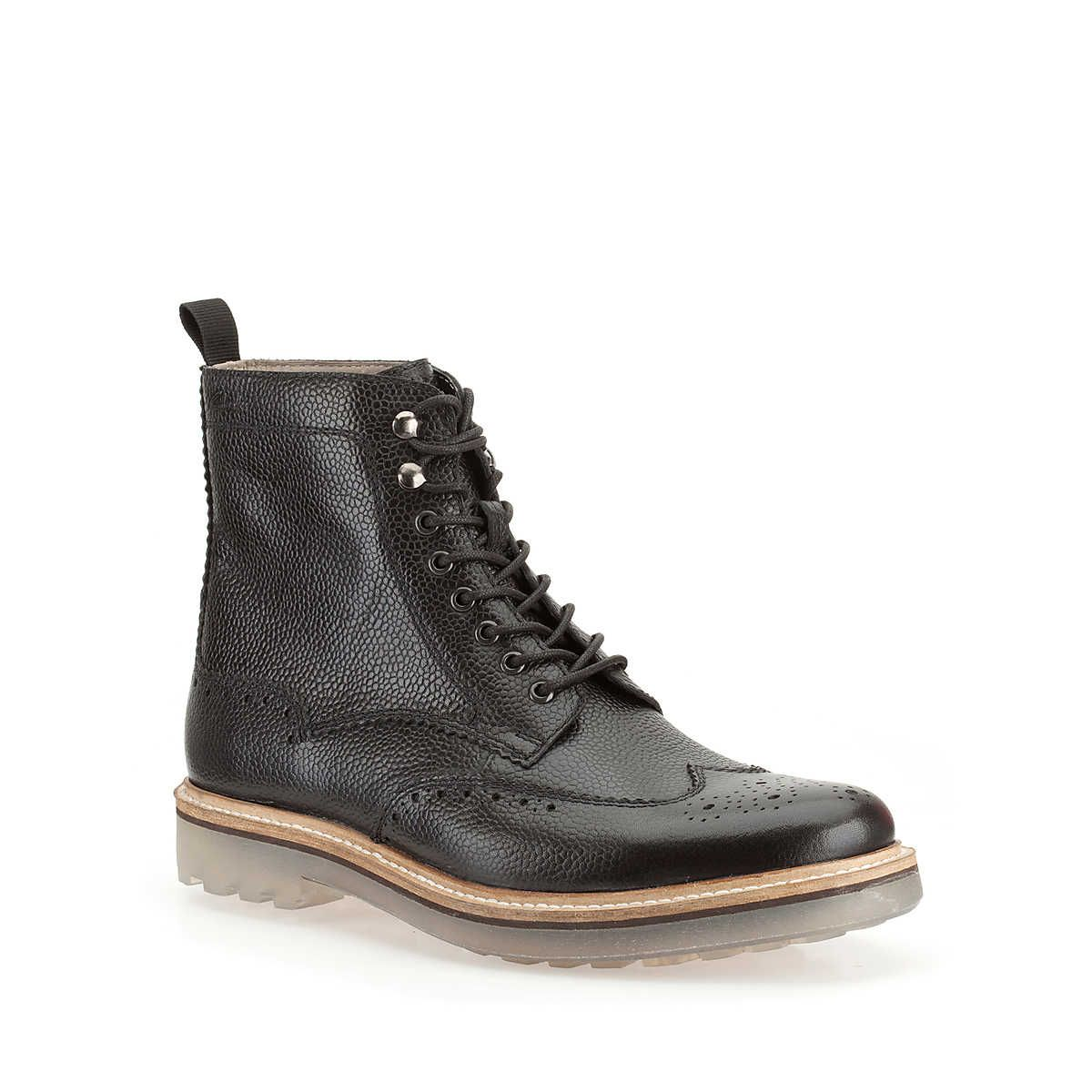 Monmart Rise in Blk Interest Lea - Mens Boots from Clarks