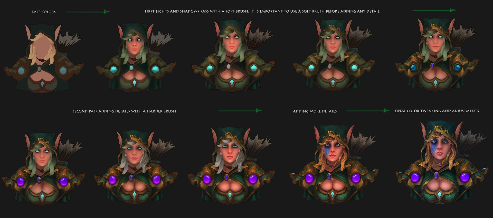 ArtStation - World of Warcraft Fan Art - Alleria Windrunner, Daniel Orive