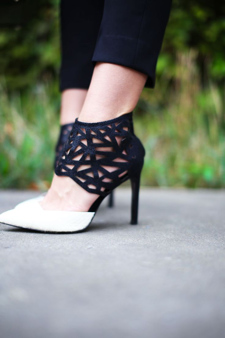 holed everything: the perforated pieces you need now | white heels