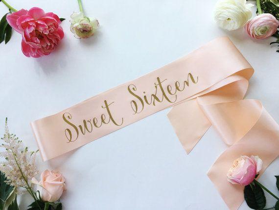 Sweet 16 Sash. 16th Birthday Sash. Custom Birthday Sash. Sweet Sixteen Sash. 16 Birthday Sash. Sweet 16. Sweet Sixteen #sweetsixteen