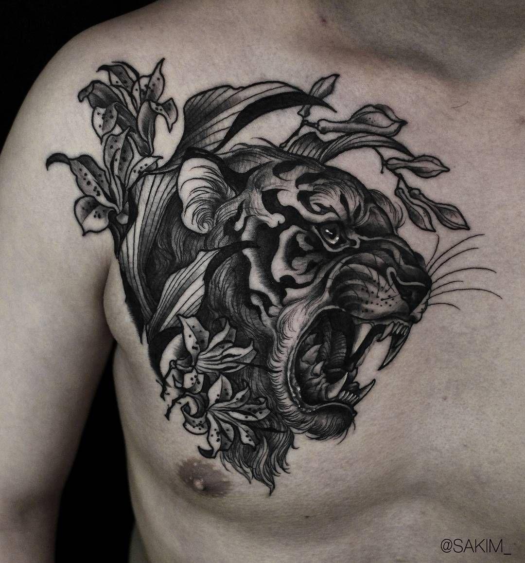 Tiger Tattoos Meaning And Design Ideas Tattoos Tiger Head Tattoo Chest Tattoo Black And Grey