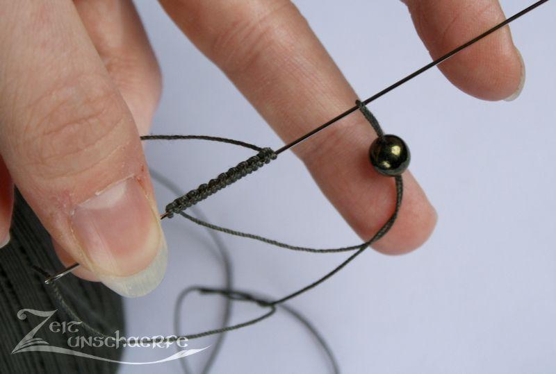 Anleitung Wie Man Beim Nadelocchi Perlen In Ringe Einsetzt Occhi