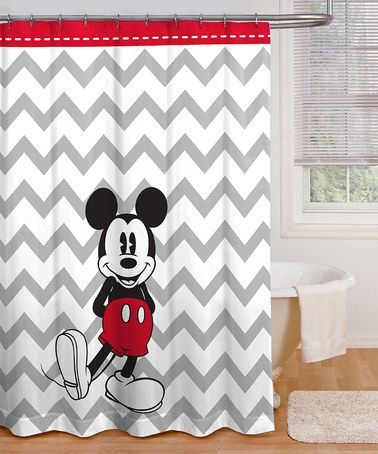 Love This Gray Chevron Mickey Shower Curtain On Zulily Zulilyfinds