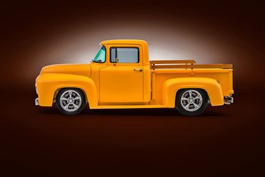 Here S A Small Window 1956 Ford F 100 Customized Like No 1956 F 100 Before 1956 Ford Custom Trucks Ford