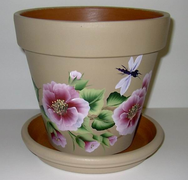 Flower pots crafthubs painted clay pots pinterest for Creative pottery painting ideas