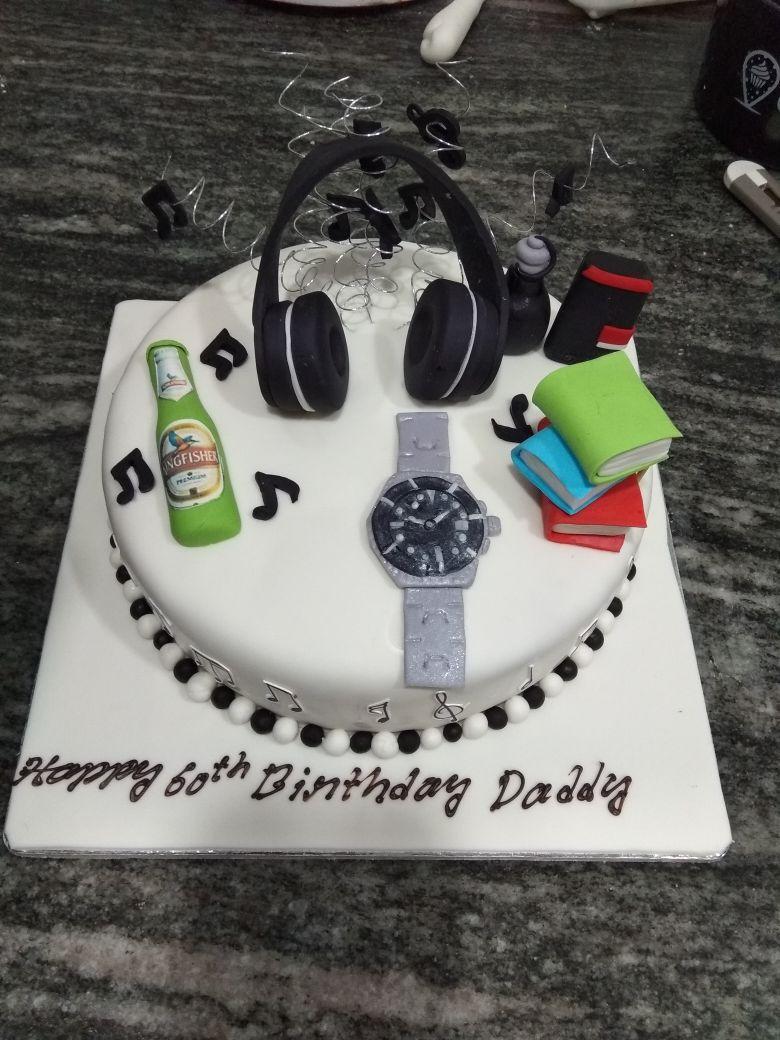 Pleasant Custom Birthday Cake For Dad Custom Cakes In 2019 Dad Birthday Personalised Birthday Cards Petedlily Jamesorg