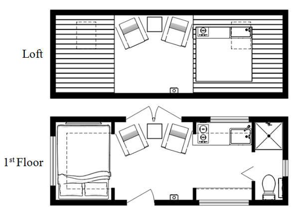 tiny house floor plans 2 bedroom - Tiny House Plans 2