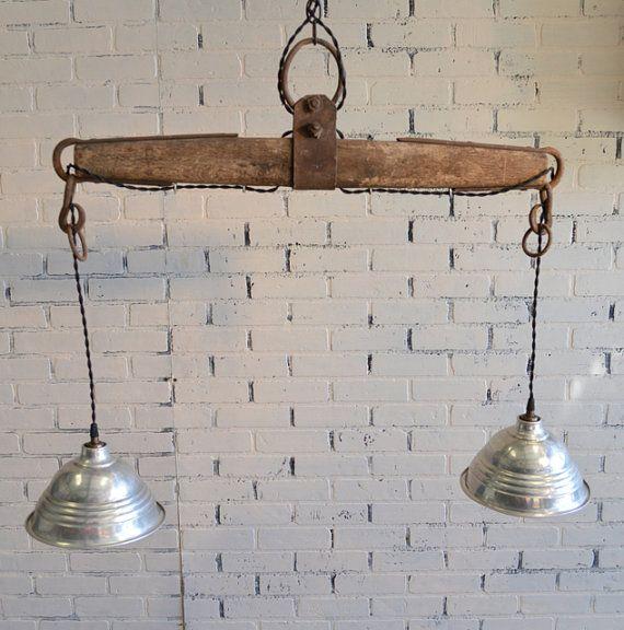Repurposed Yoke Hanging Light