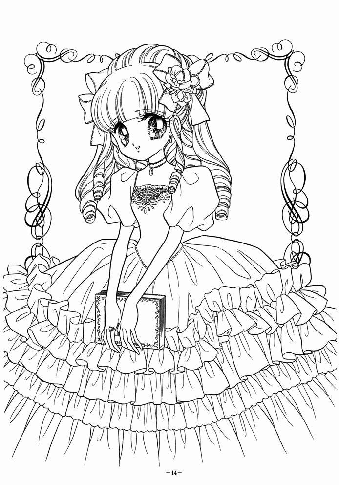 Coloring Books Anime New 1903 Best Anime Asian Art Manga Coloring Pages Images In 2020 Coloring Books Princess Coloring Pages Coloring Pages