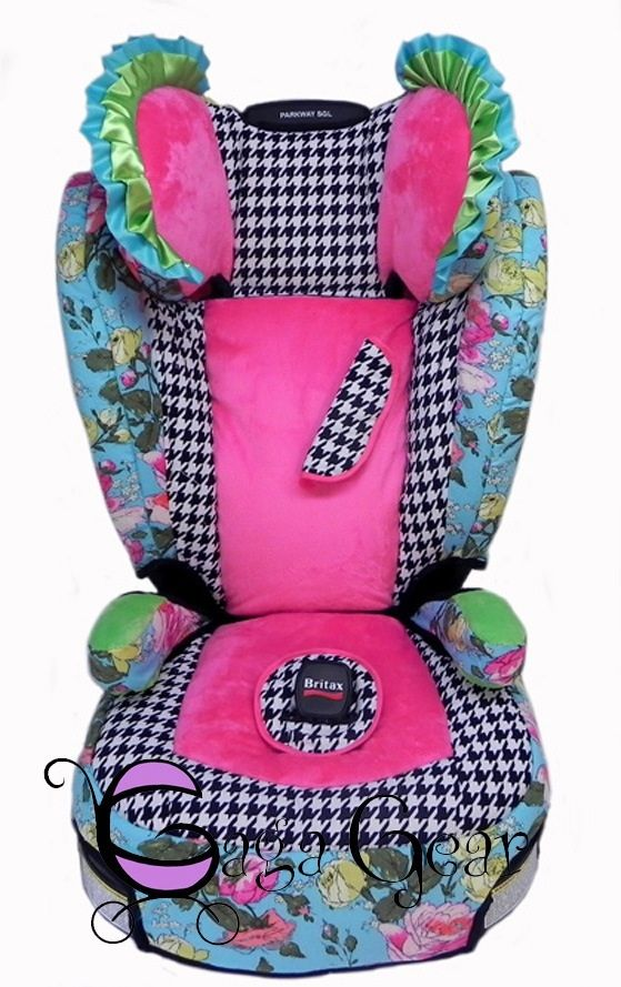 Enjoyable Custom Covered Britax Parkway Booster Seat Designed By Dailytribune Chair Design For Home Dailytribuneorg