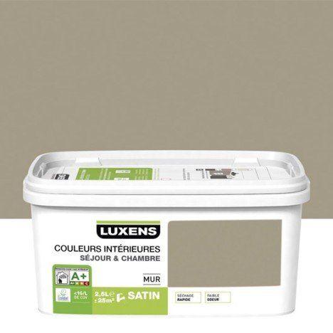 Peinture gris doré 5 LUXENS Couleurs intérieures 25 l Toilettes - peinture satin ou mat