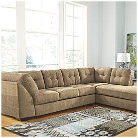View Signature Design By Ashley Driskell Mocha 2 Piece Sectional