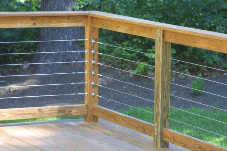 aircraft cable exterior deck railing - Google Search