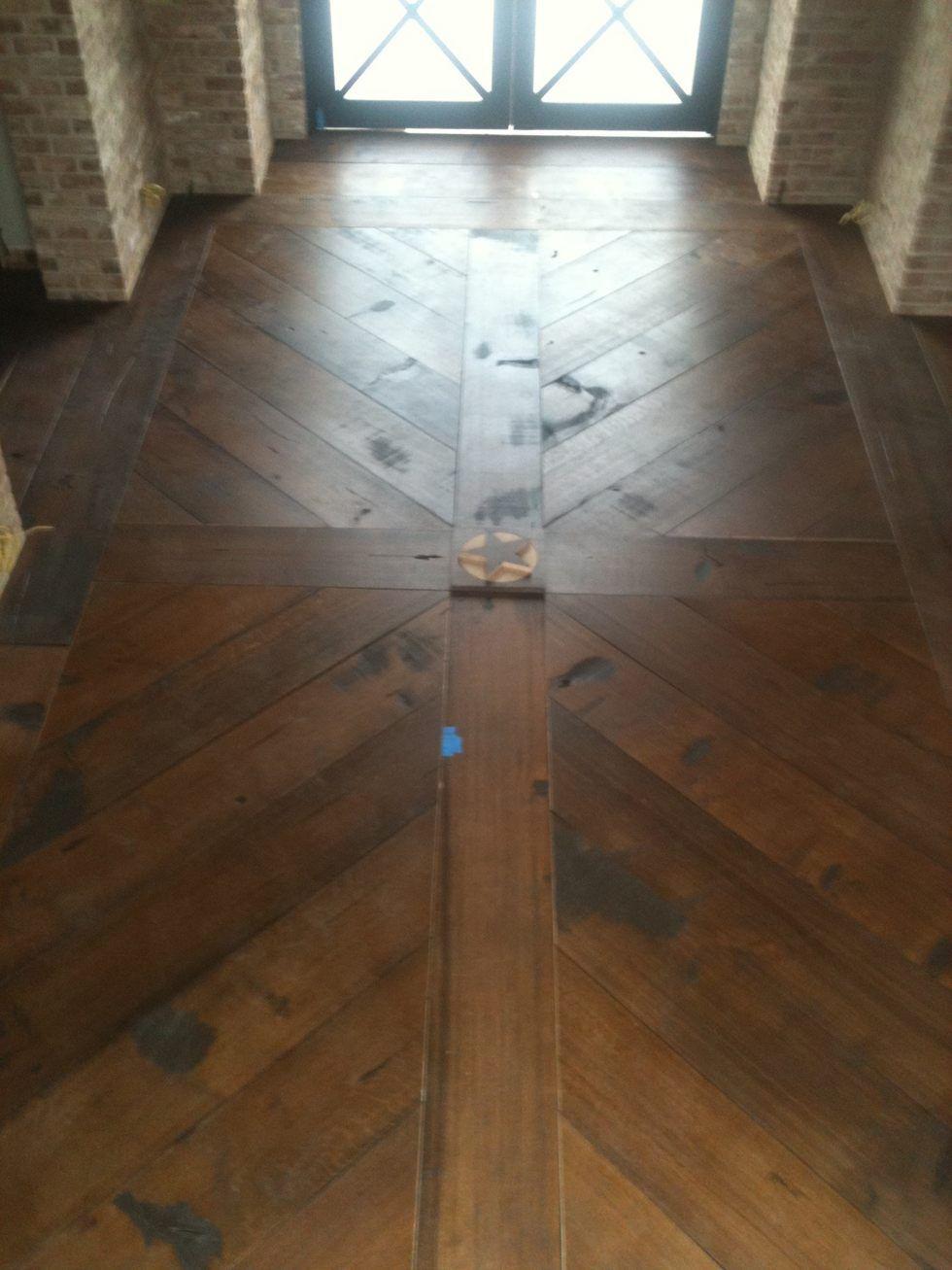Rustic American White Oak wide plank flooring home oak