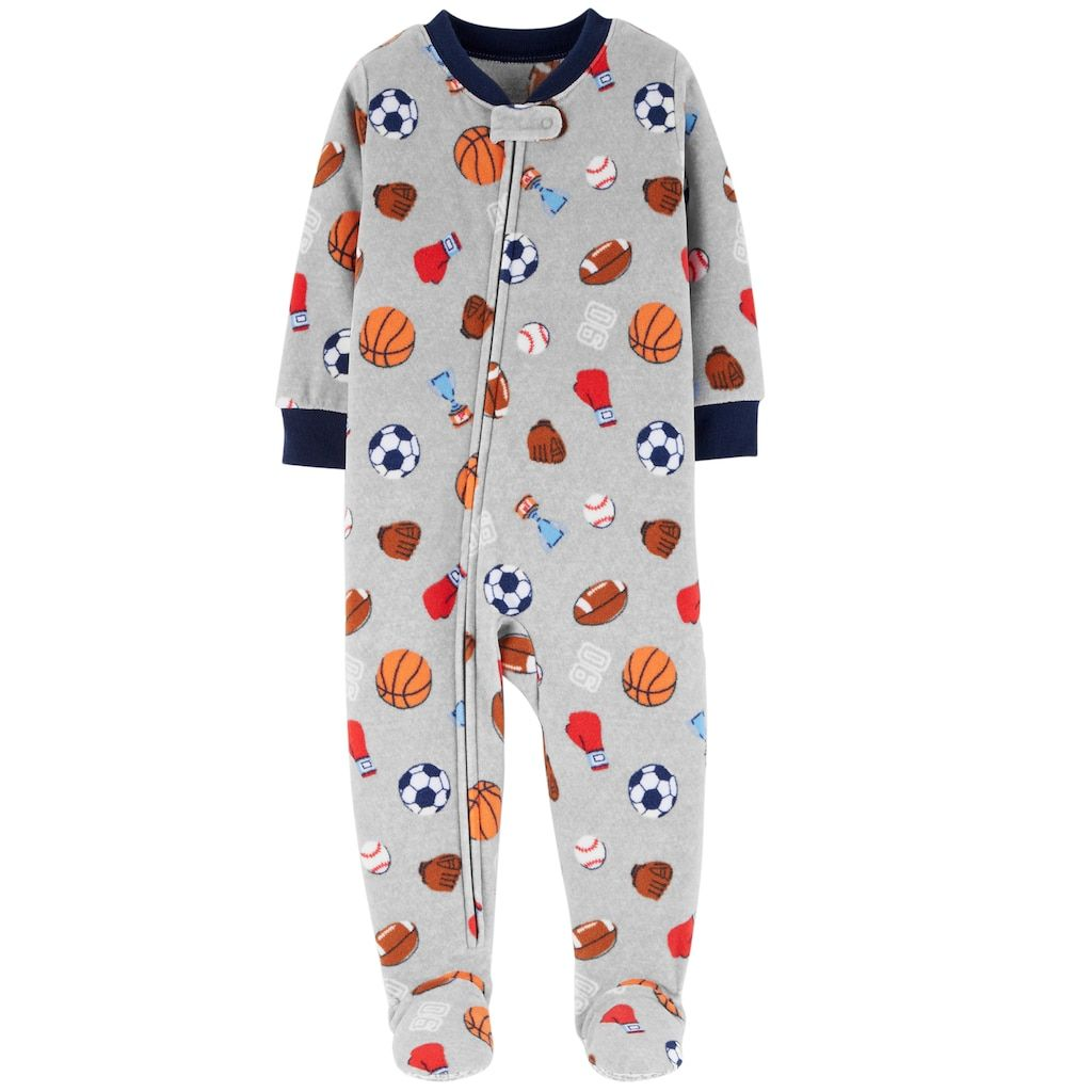1fc1fd82a Baby Boy Carter s Microfleece Sports Footed Pajamas