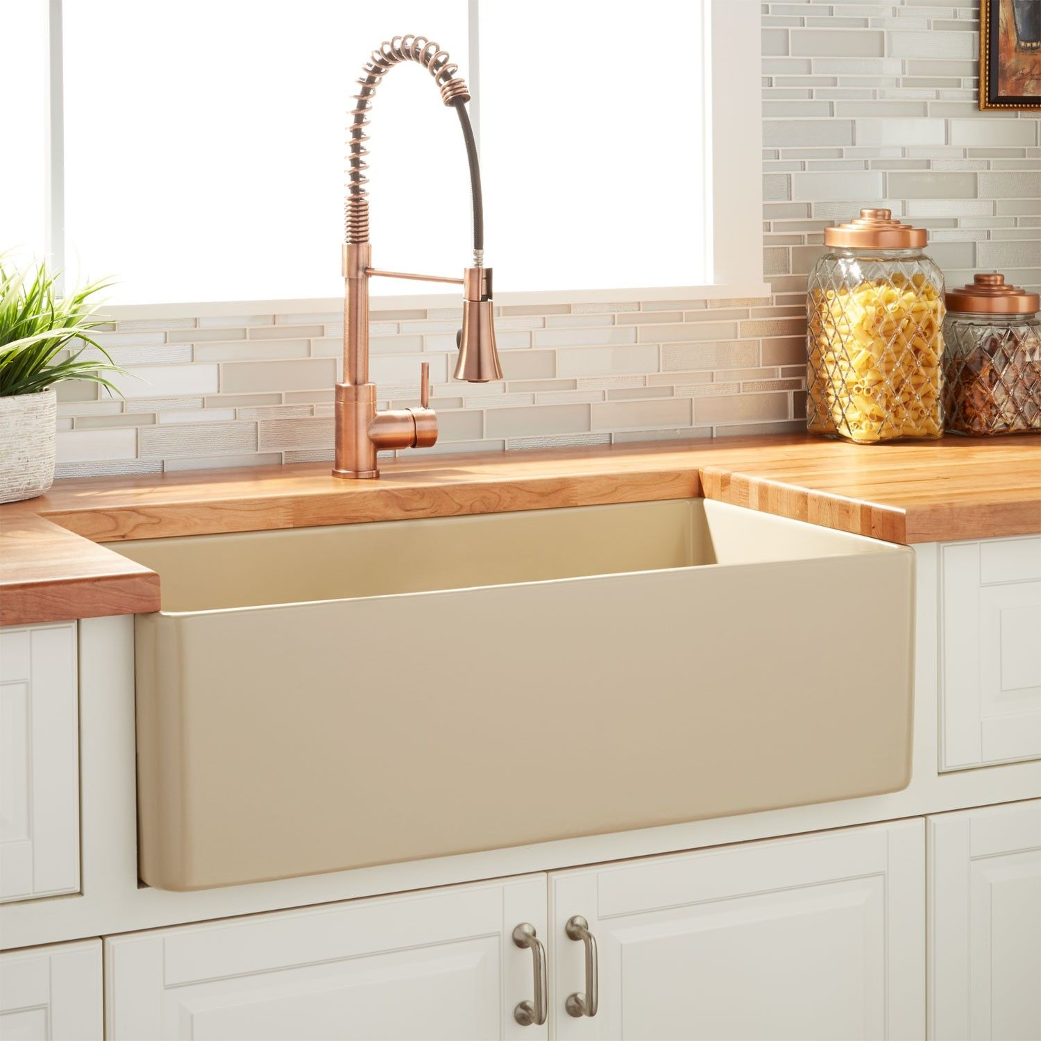 30 Reinhard Fireclay Farmhouse Sink Beige With Images