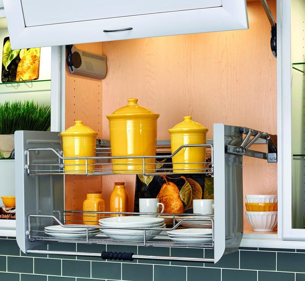 Greenfield Storage Bi Fold Lift Up Door With Pull Down Shelving Pull Down Shelf Rev A Shelf Kitchen Cabinet Design