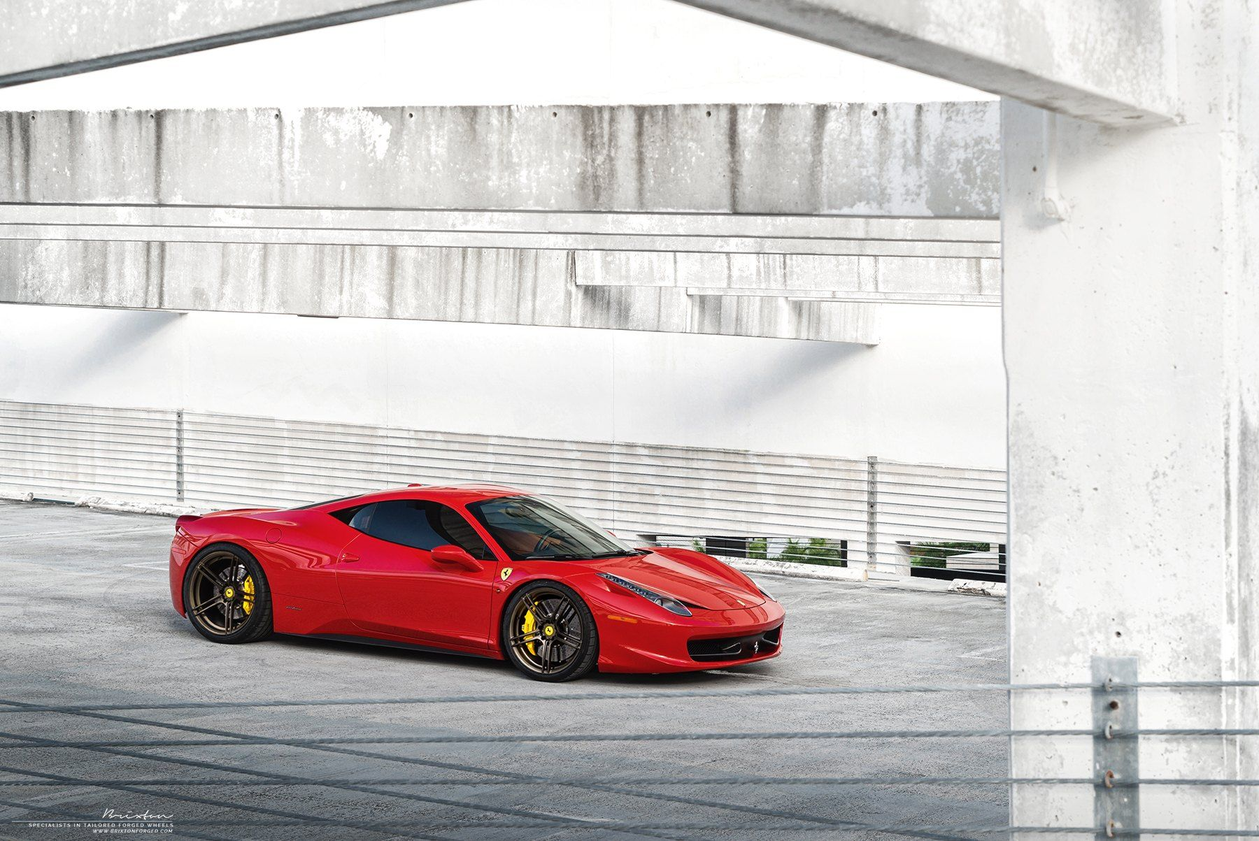 Stunning Red Ferrari 458 Sits On Brixton Forged Wheels with