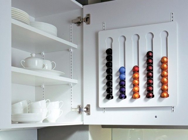 15 Idees Astucieuses Pour La Cuisine Elle Decoration Astuce Rangement Rangement Capsules Nespresso Idee Rangement
