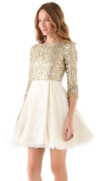 sparkle dress / alice + olivia