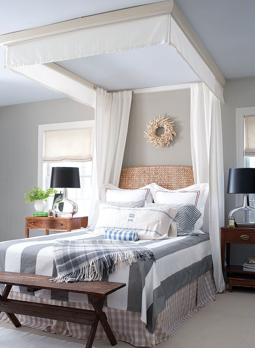 Benjamin Moore Bedroom Cw 50 Tyler Gray Walls With 650 Palace Pearl Ceiling
