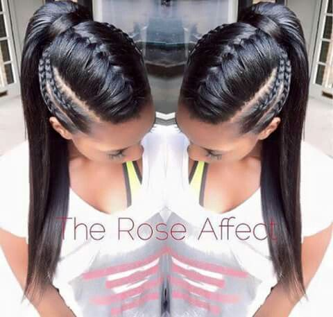 Simple Mohawk Braids Braided Ponytail Hairstyles Hair Styles Long Hair Styles