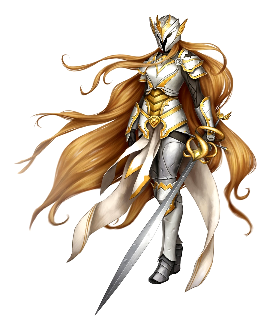 Female Aasimar Paladin Knight With Sword And Holy Armor