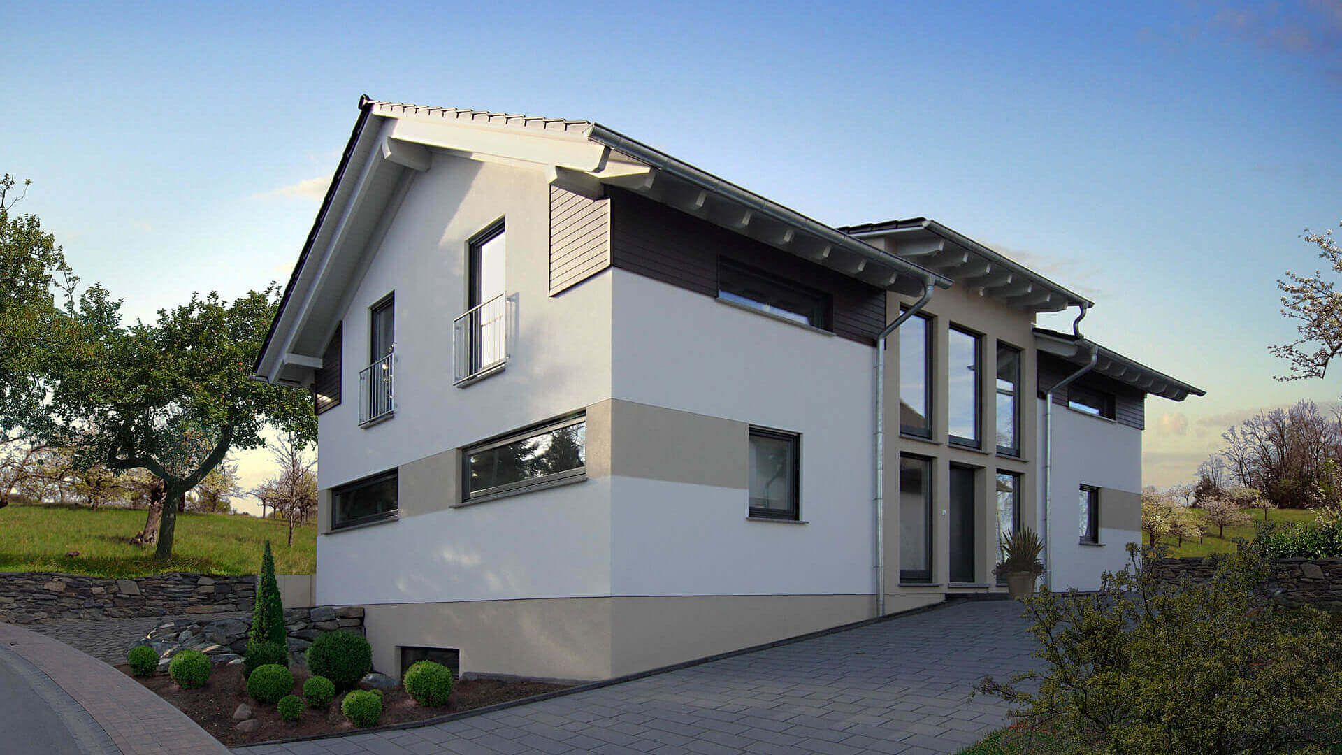 Moderne Satteldachhäuser satteldachhäuser r 104 10 fingerhuthaus de fassadengestaltung
