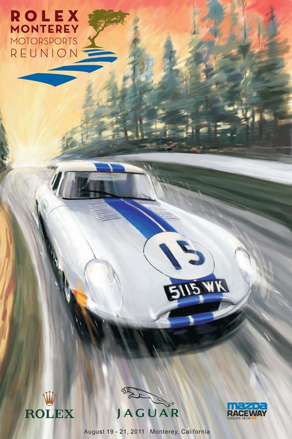 official poster art of the 2011 Rolex Monterey Motorsports Reunion