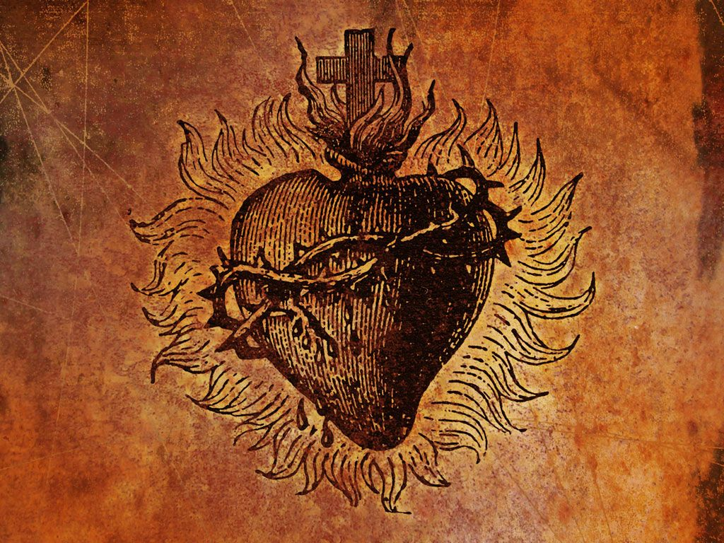 Free Sacred Heart Wallpaper Download The Free Sacred