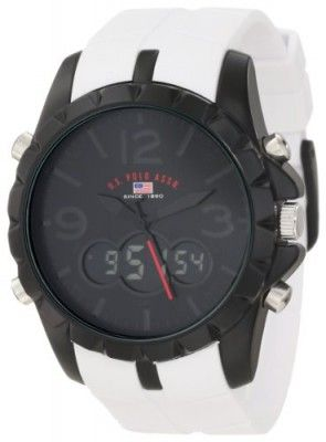 cd2a7a4e0c9 Relógio U.S. Polo Assn. Sport Men s US9241 White Analog Digital Strap Watch   Relógio  US Polo
