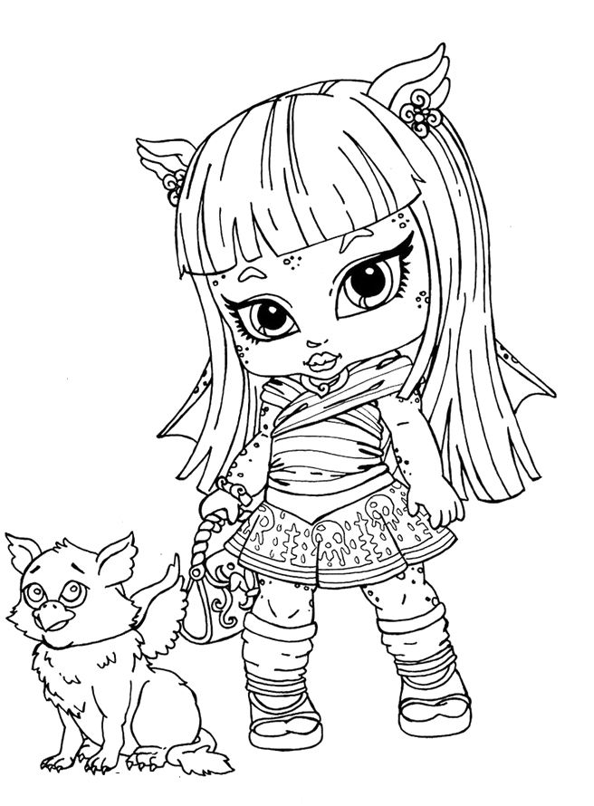 Monster High Baby Rochelle Coloring