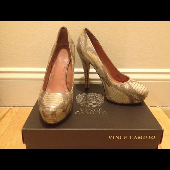 eef4edbd2c6 Vince Camuto Size 6.5 Python Heels Super Sexy Vince Camuto heels ...