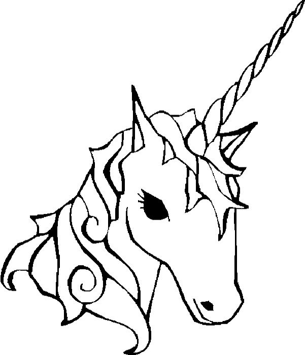 Face Of Unicorn Coloring Pages - Unicorn Coloring Pages ...