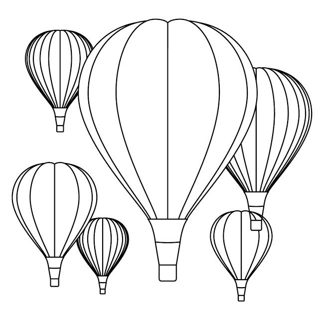 Hot Air Balloon Coloring Pages Free Printables Balloon Crafts