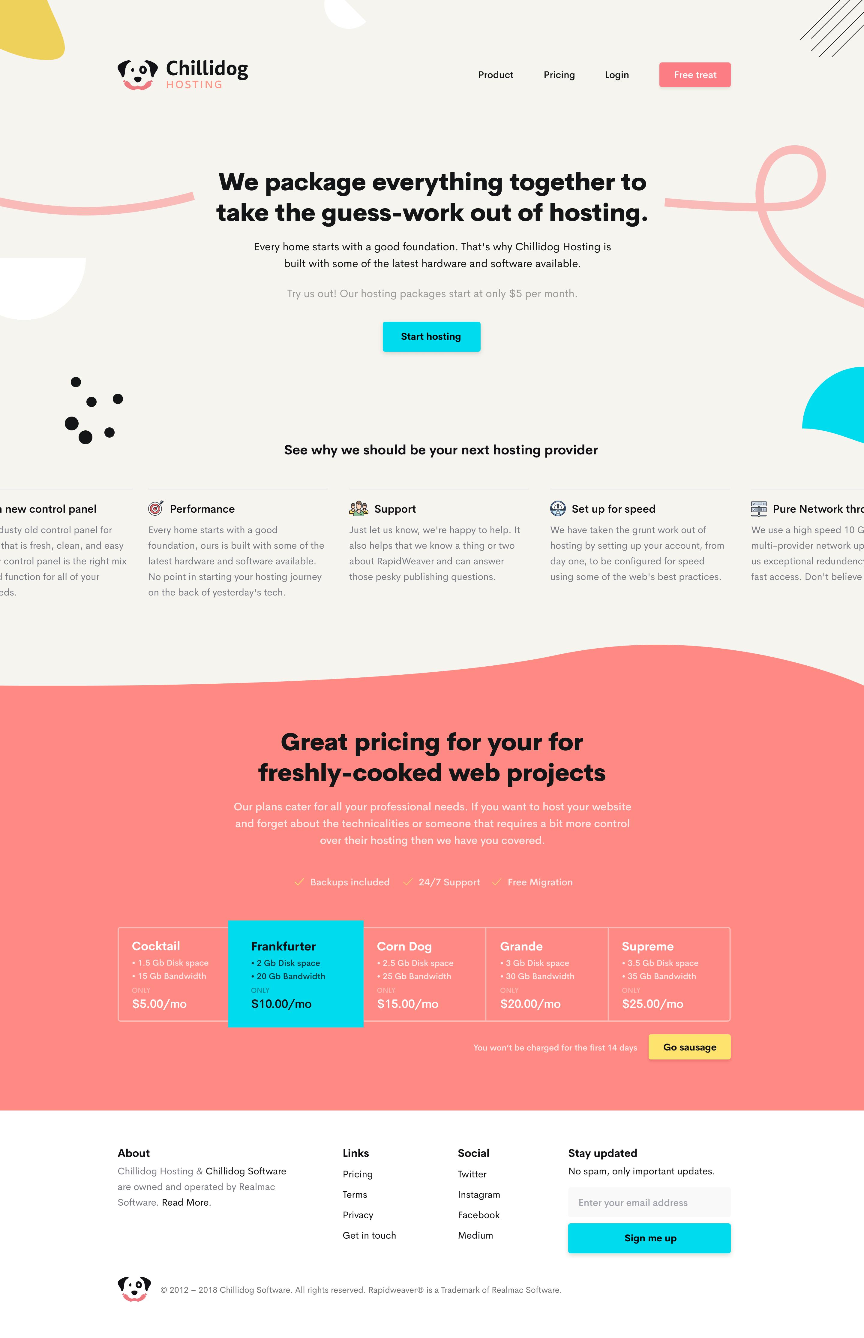 Chillidog Hosting Homepage 2x Hosting Company Secrets Revealed Web Design