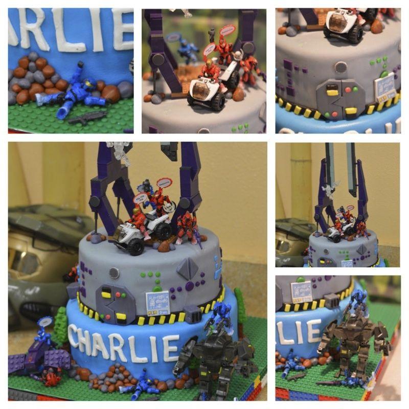 Halo mega blocks cake Toycakecom Toycakecom Pinterest Cake
