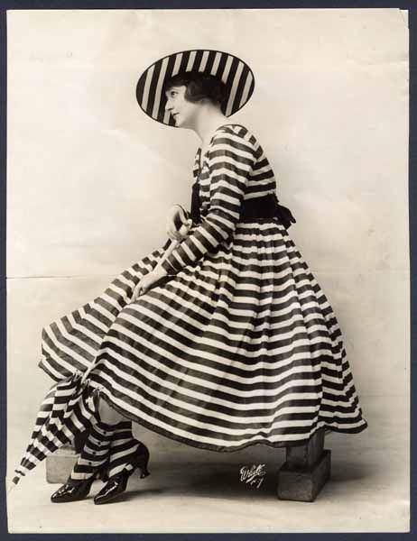 Photo Of A Lady In Outdoor Dress Ca 1917 Love The Matching Socks Hat Umbrella Bathing Costumes Outdoor Dress Stripes