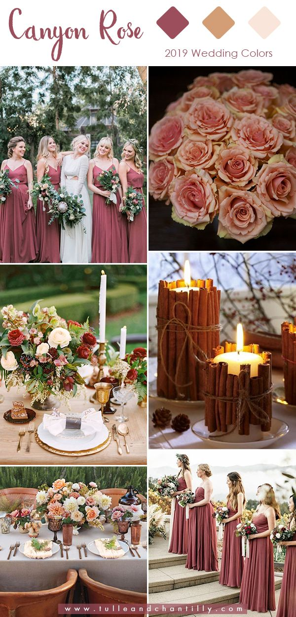 Top 10 Wedding Colors for 2019 Trends with Bridesmaid Dresses #wedding explore Pinterest