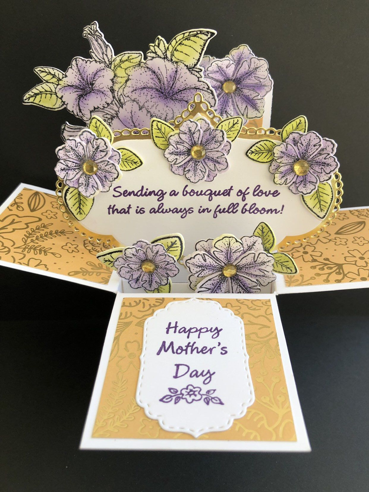 Fox pop up card mothers day card butterfly box card cute