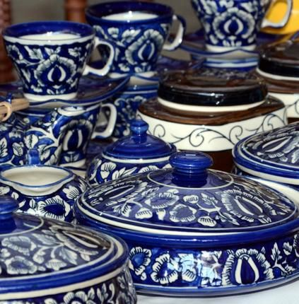 Pottery And Pillowcases With Pickle Blue Pottery Jaipur Blue Pottery Pottery