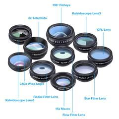 Lens kit universal 10 in 1 Fisheye Wide Angle macro Lens for smartphone #wideangle