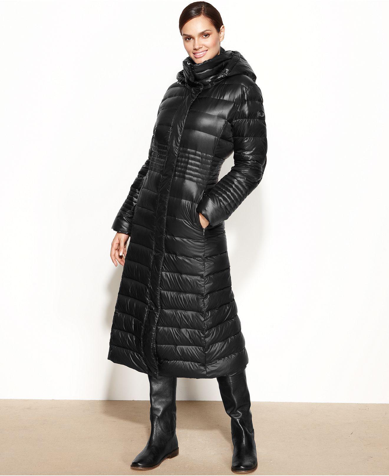 Calvin Klein Hooded Down Puffer Maxi Coat Coats Women Macy S Maxi Coat Fashion Coats For Women [ 1616 x 1320 Pixel ]
