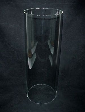 Cylinder Tube Light Lamp Shade 7 1 2 Quot X 19 Quot Glass Quality Heat And Shock Resistant Blown Clear