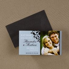 One Photo - Save the Date Magnet #weddings #savethedate #awesome #marriage #photo